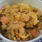 「鮭と卵の炊き込みチャーハン」我が家の【炊込みご飯】写真コンテスト!食塩無添加★さっぱりだしで美味しい料理をの投稿画像