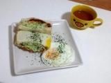 ゆるピタ★コーデ●通販のお買い物♪手作りサンドイッチ●おうちカフェごはん♪スイーツパンと2種類♪の画像(1枚目)