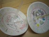 紙皿で作ったコマ!