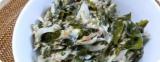 鯖味噌缶で、新ワカメと新玉葱の鯖味噌衣和えの画像(2枚目)