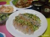 サムジャンで鯛のカルパッチョの画像(2枚目)