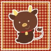 「くろうしちゃん」飛騨牛販売専門店 黒牛亭 マスコットキャラクター イラスト募集の投稿画像