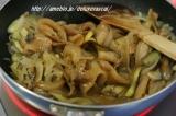 豚丼の具(カルビ)の野菜パスタ♪の画像(1枚目)