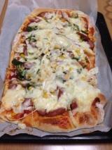 親子でピザ作り(*^◯^*)の画像(4枚目)