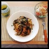 モニターの肉味噌パスタの画像(2枚目)
