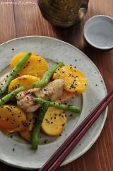 【秋の絶品料理】柿と鶏肉の味噌いための画像(2枚目)