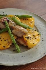 【秋の絶品料理】柿と鶏肉の味噌いための画像(1枚目)