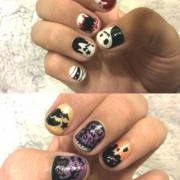 「自爪に直接手描きしました!」ネイルアートコンテストでジェルネイルキットを5名様プレゼント★お題はハロウィンの投稿画像