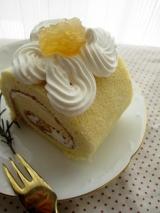 「リンゴジャムのロールケーキ」の画像(3枚目)