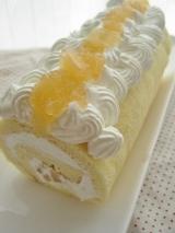 「リンゴジャムのロールケーキ」の画像(1枚目)