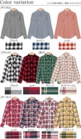 4タイプ2wayコットンネルチェックシャツ