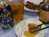 くまモンラベルの「デコポン!火の国ポン酢」の餃子で美味しく♪