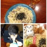 「おめでとう♪( ´▽`)パーティー♪」日清フーズ 『ワインでパスタしよう』フォトコンテストで冷凍パスタをプレゼントの投稿画像