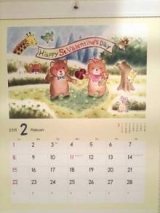 【口で描いた可愛い動物たちのイラスト】メルヘンカレンダー2015の画像(1枚目)