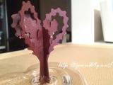 【完成!】*6時間で咲くハート「マジックラブツリー ミニ」を咲かせてみました♪の画像(4枚目)