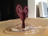 【完成!】*6時間で咲くハート「マジックラブツリー ミニ」を咲かせてみました♪の画像(3枚目)