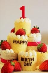 1歳のお誕生日ケーキ。の画像(2枚目)