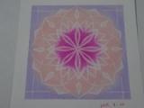 「ピンクのヒーリング曼荼羅アート」の画像(1枚目)