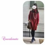 おフェロな赤のニットワンピでデートコーデ♡の画像(1枚目)