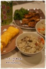 玉露園の昆布茶de夕食メニューの画像(1枚目)