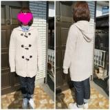 ランズエンド レディス ☆ダッフル風のセーターコートの画像(5枚目)