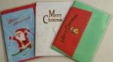 口で描いた絵のクリスマスカード3種の画像(1枚目)