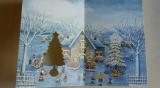 口で描いた絵のクリスマスカード3種の画像(3枚目)