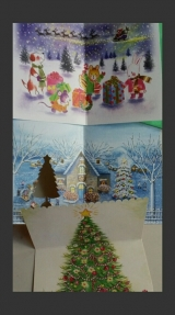 口で描いた絵のクリスマスカード3種の画像(2枚目)