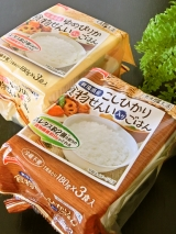 テーブルマーク 「美食生活」 新潟県産こしひかり 食物せんい入りごはん 北海道産ゆめぴりか 食物せんい入りごはんの画像(1枚目)