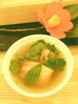 「絶品☆椿油の「創作野菜天ぷら」と伊豆大島「鼈甲寿司」(べっこうずし)♪」の画像(6枚目)