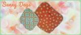 (当選)さわやか元気カラーのオレンジいっぱい♪ Sunny Days布ナプキンの画像(1枚目)