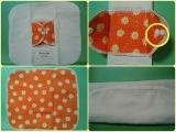 (当選)さわやか元気カラーのオレンジいっぱい♪ Sunny Days布ナプキンの画像(5枚目)