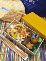 女子大生の砂肝の唐揚げ弁当♪イエロースタジオのお弁当箱に(娘)の画像(4枚目)