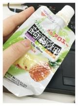 クラッシュタイプの蒟蒻畑 パイナップル味 大粒アロエin 食べごたえあり☆仕事中のおやつに最適 の画像(5枚目)