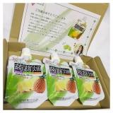 クラッシュタイプの蒟蒻畑 パイナップル味 大粒アロエin 食べごたえあり☆仕事中のおやつに最適 の画像(2枚目)