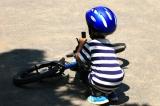 D-Bike Master 16インチ☆4歳 自転車に挑む夏休み!まずはキックバイクで練習だ!の画像(8枚目)