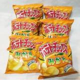 コイケヤ ポテトチップスみかん味 の画像(3枚目)