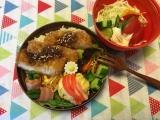 とんかつ&蟹寿司風まん丸卵焼き弁当♪(旦那)の画像(6枚目)