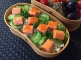 オホーツクサーモン風味(サモかま)deちらし寿し弁当♪の画像(4枚目)