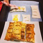 娘とアップルパイ作り♡ #アップルパイ #パイの焼ける匂い #幸せ #アクリの冷凍パイシート #moniplaのInstagram画像