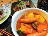 トマト煮込みと簡単料理の画像(1枚目)