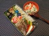 イベリコ豚ステーキ(トンテキ)弁当♪(旦那)の画像(1枚目)