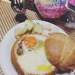 朝ごはんー!みんなコメント有難うブレッドボールに卵とチーズのせてみたー!そして何故かストーリー動画投稿てきなくてへこむw#パンdeパーティー #monipla#instadaily…のInstagram画像