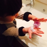 手洗い練習スタンプ おててポンの画像(8枚目)