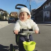 「三輪車デビュー★」【投稿募集!】のりもの遊びをしている自慢のベストショットを募集!の投稿画像