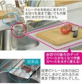 「【自動的に排水され、キッチンスペースも確保】株式会社TWINSさまより;斜めに流れる1段水切りカゴ(スリム 左置用)◆モニター参加」の画像(8枚目)