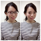 「伊達メガネで小顔効果を狙う‼︎」の画像(3枚目)