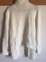 「着てみました♡ur's(ユアーズ)のイレギュラーヘムタートルニットプルオーバー #ユアーズ」の画像(2枚目)