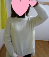 「着てみました♡ur's(ユアーズ)のイレギュラーヘムタートルニットプルオーバー #ユアーズ」の画像(3枚目)