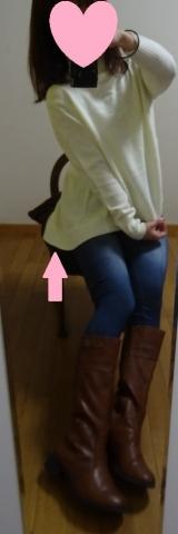「着てみました♡ur's(ユアーズ)のイレギュラーヘムタートルニットプルオーバー #ユアーズ」の画像(10枚目)